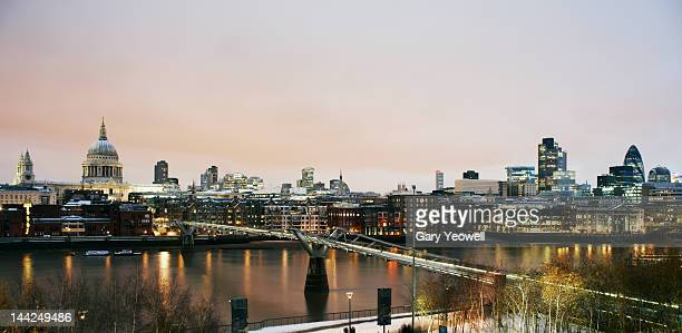 city of london viewed across river thames - yeowell stock pictures, royalty-free photos & images