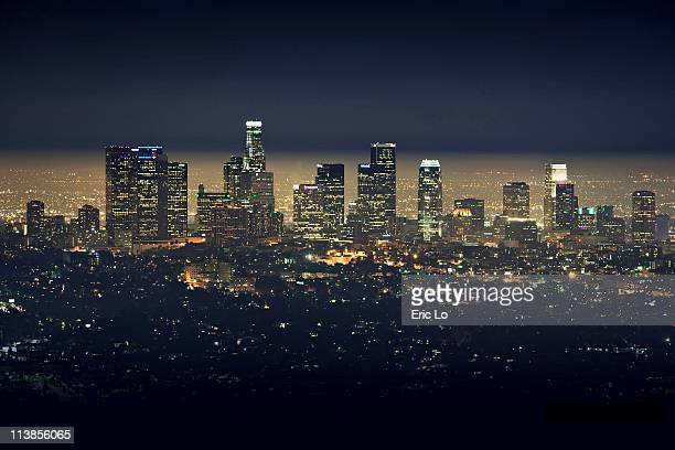 city of los angeles - los angeles skyline stock pictures, royalty-free photos & images