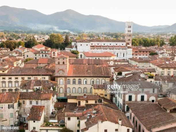 City of Lucca, Tuscany, central Italy, September