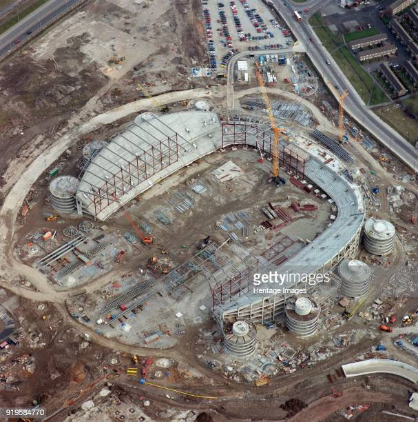 City of Manchester Stadium Manchester under construction March 2001 Aerial view This new 41000 capacity athletics stadium was built as part of...