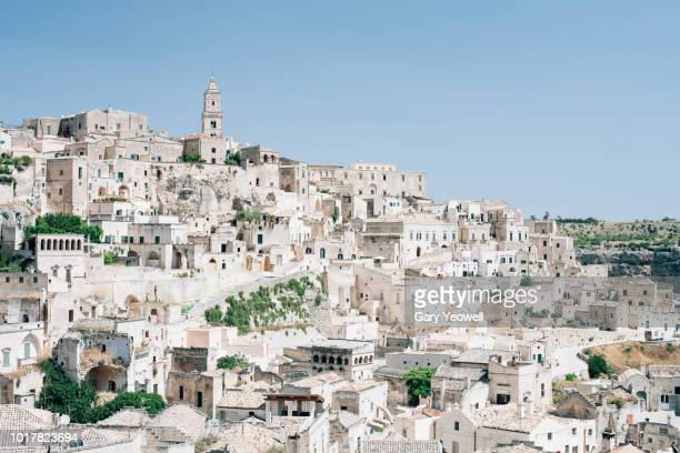 city of matera on a hillside - basilicata region stock pictures, royalty-free photos & images