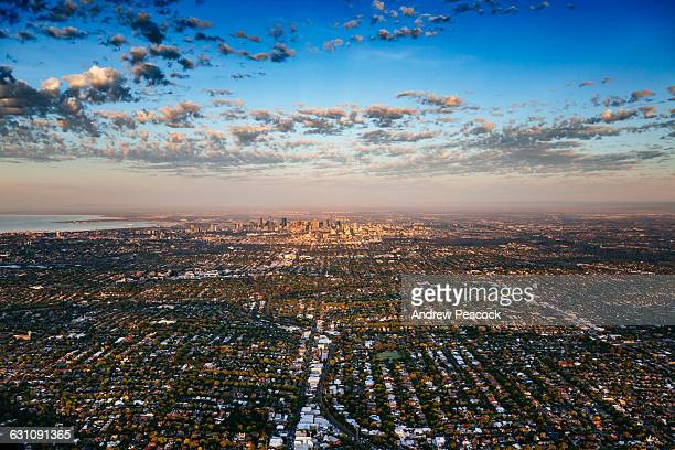 City of Melbourne and suburbs aerial photo