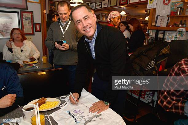 City of Miami Beach Mayor Philip Levine is interviewed by Host Ari RabinHavt at SiriusXM Red Diner Broadcasts from New Hampshire Primary Coverage...