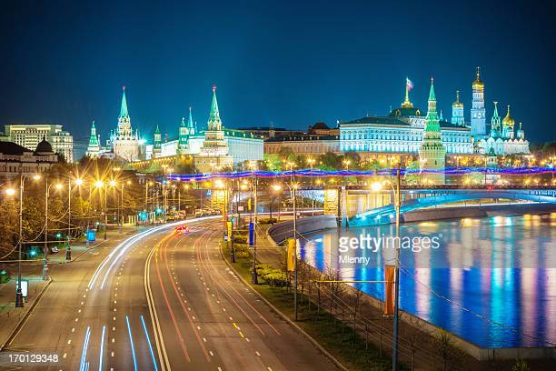 City of Moscow Kremlin at Night,Russia