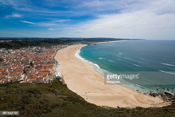 city of nazare - lifeispixels stock pictures, royalty-free photos & images