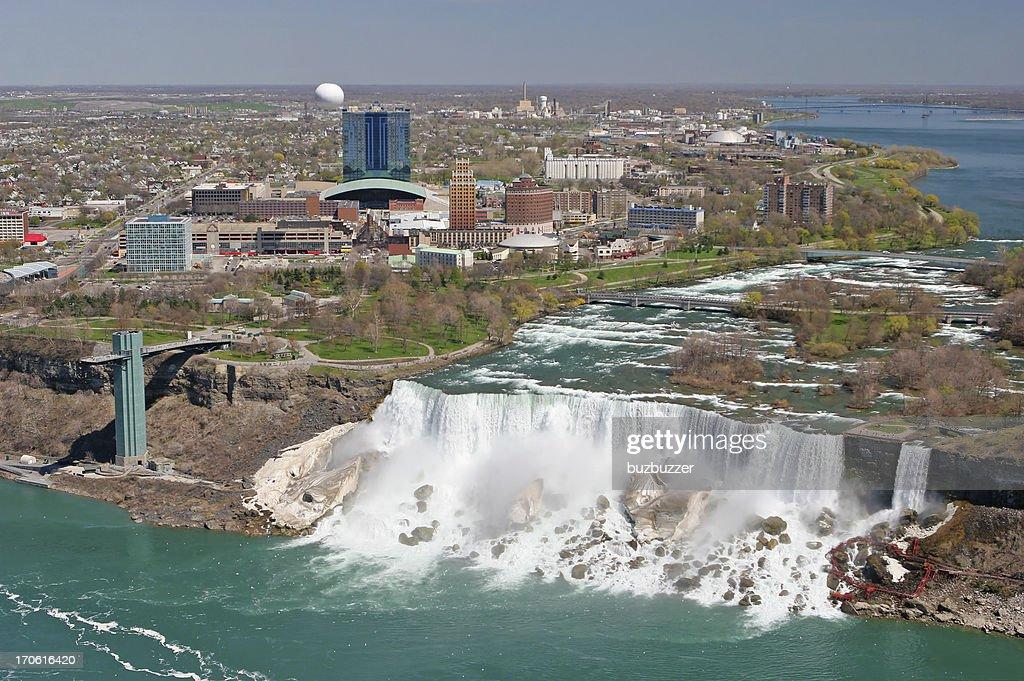 City of Niagara falls on the american side : Stock Photo