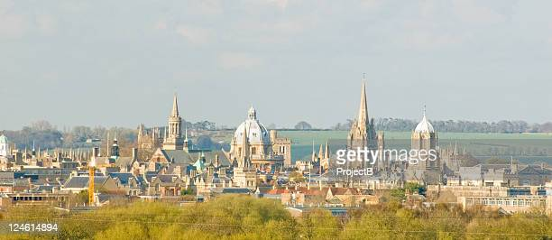 city of oxford spires - oxford england stock pictures, royalty-free photos & images