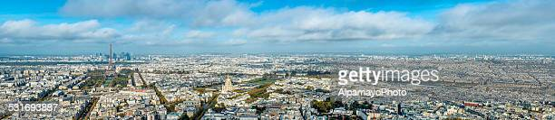 city of paris panorama - ile de france stock pictures, royalty-free photos & images