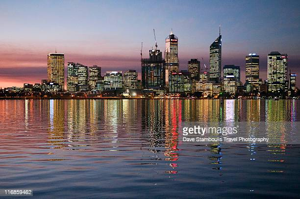 City of Perth reflected in Swan River