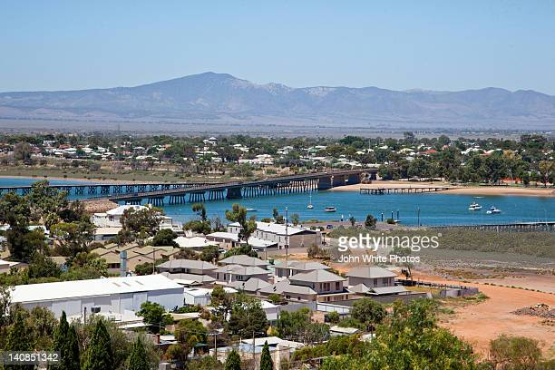 city of port augusta - südaustralien stock-fotos und bilder