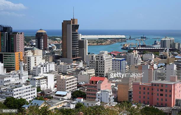 city of port louis, mauritius - port louis stock photos and pictures