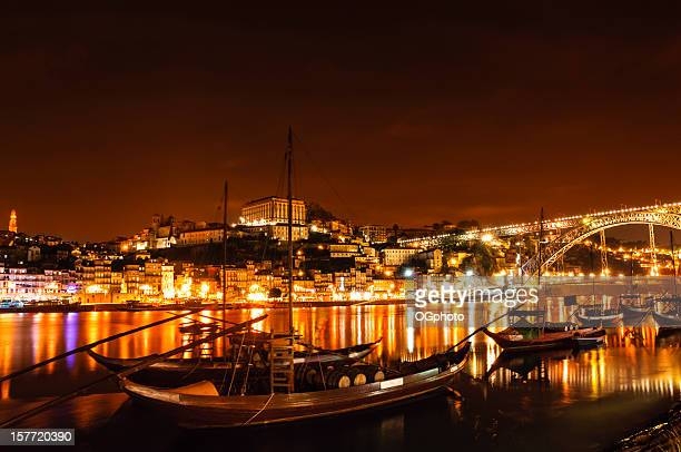 city of porto, portugal at night - ogphoto stock pictures, royalty-free photos & images