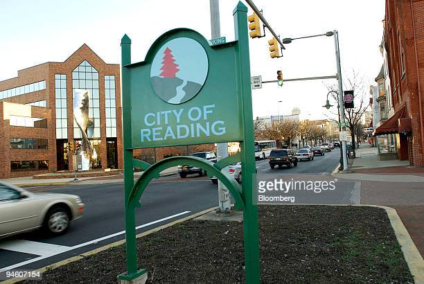 "City of Reading"" sign stands in downtown Reading, Pennsylvania, Wednesday, Jan. 17, 2007. The school district of Reading, the third-poorest city in..."