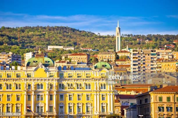 city of rijeka landmarks view - rijeka stock pictures, royalty-free photos & images