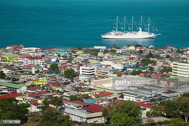 city of roseau, dominica, caribbean, travel destination - dominica stock pictures, royalty-free photos & images