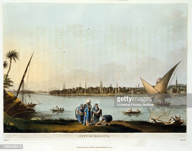 City of Rosetta Egypt 1801 Luigi Mayer ItalianGerman artist and one of the earliest and most important late 18thcentury European painters of the...