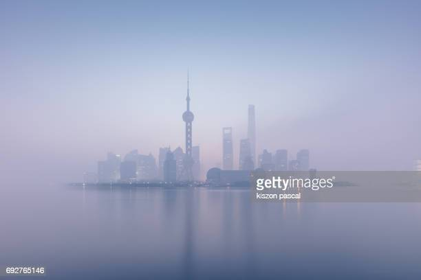 city of Shanghai during a air polluted day ( China , Asia )