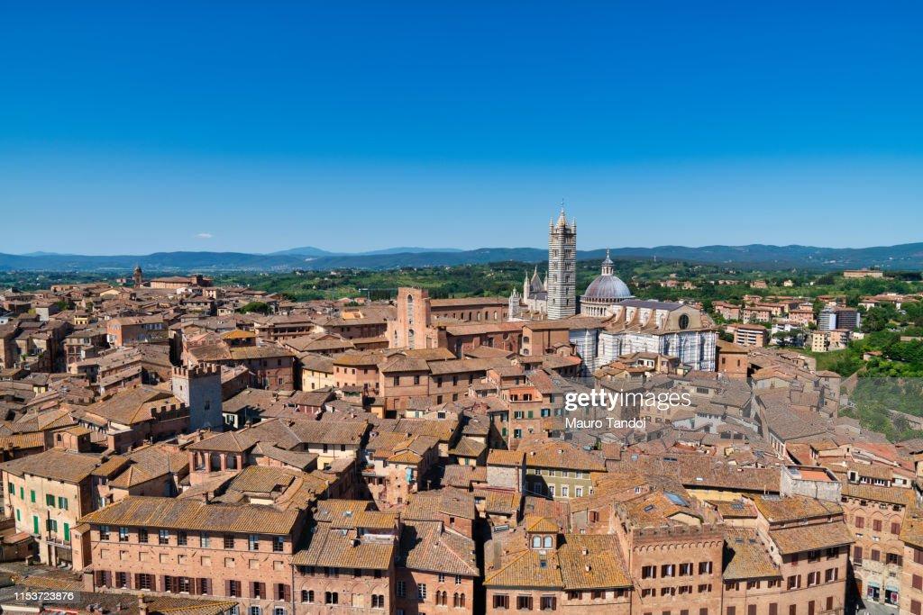 City of Siena and its Cathedral (Duomo) of Santa Maria Assunta, Tuscany : Foto stock