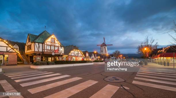 city of solvang, california - danish culture stock pictures, royalty-free photos & images