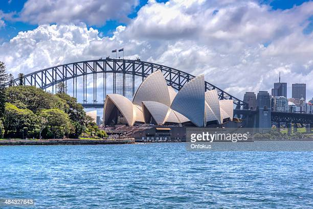City of Sydney Opera House and Harbour Bridge at Daytime