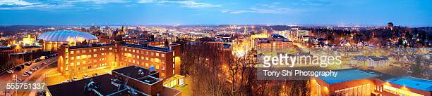 city of syracuse from mount olympus - syracuse new york stock pictures, royalty-free photos & images
