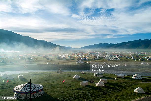 A city of tents at the Yushu Horse Racing Festival or Yaji meaning 'Festival of Summer Pleasures' Occurring simultaneously across Eastern Tibet now...