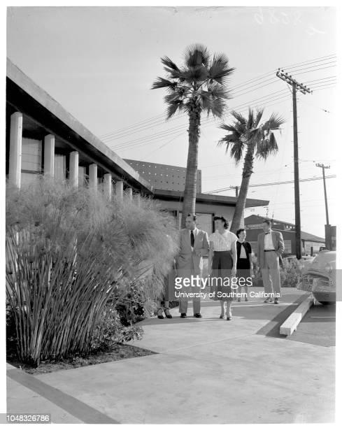 City of Vernon layout 17 February 1953 Rudy Velasco David J O'Neil Frances Bonser George Everhart Arthur Maas Senior Perry Hansen WE Alworth Caption...