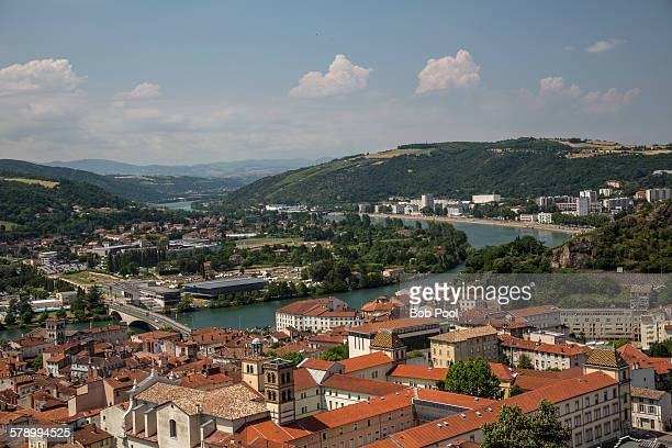 City of Vienne and the Rhone River