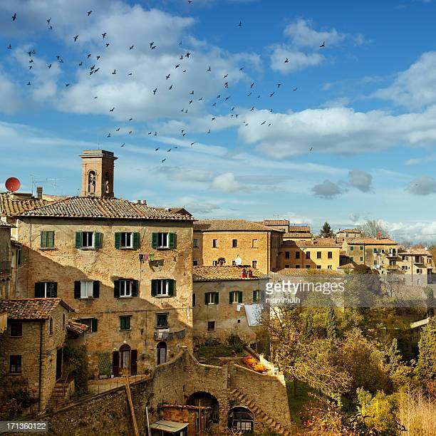 city of volterra in italy - volterra stock photos and pictures