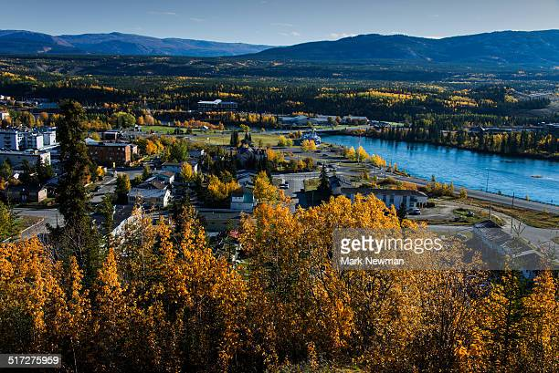 City of Whitehorse in the Yukon from above