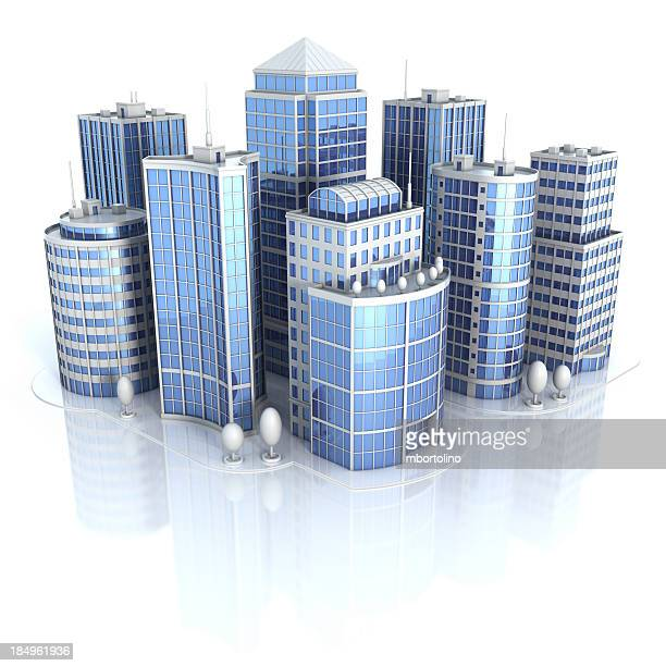 City office buildings