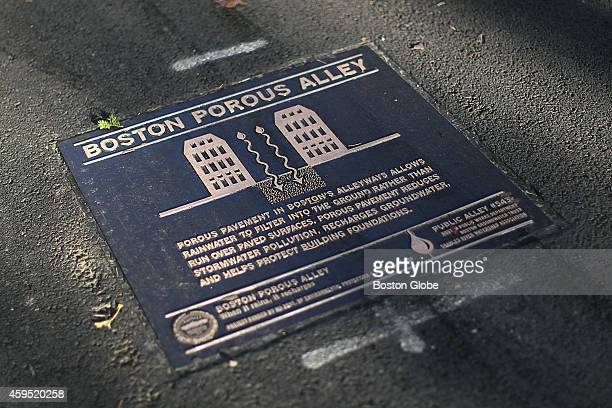 City officials unveil a new porous street in South End to combat groundwater problem It is public alley 543 between West Canton and Holyoke in South...