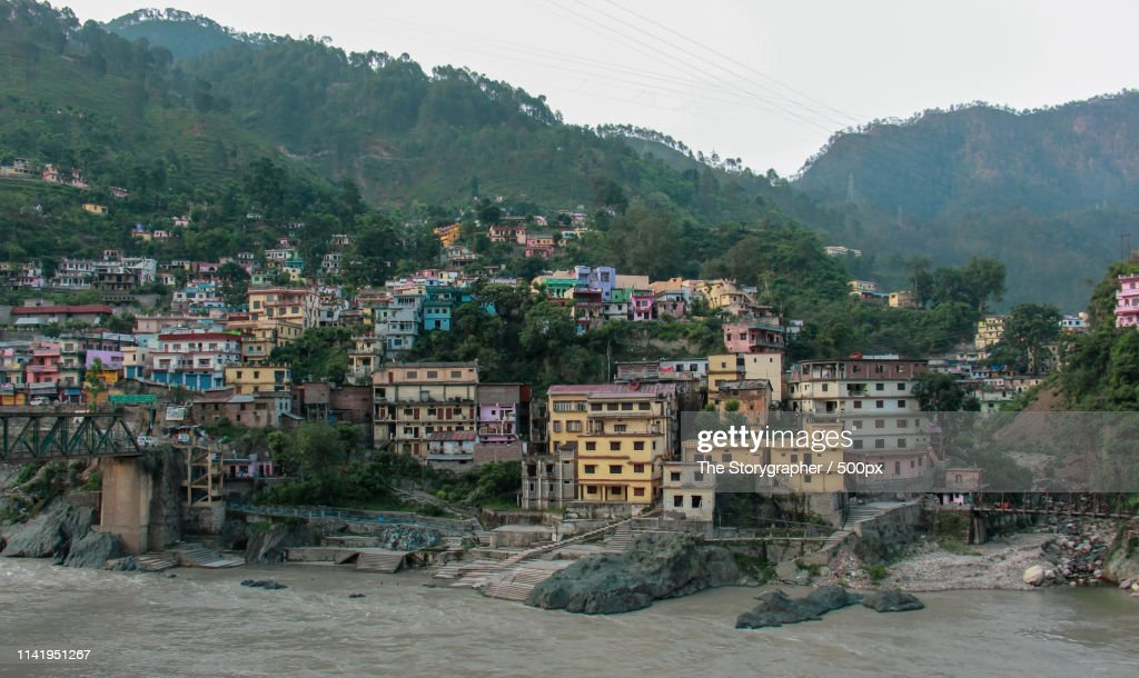 A City On The Banks Of River Ganga : Stock Photo