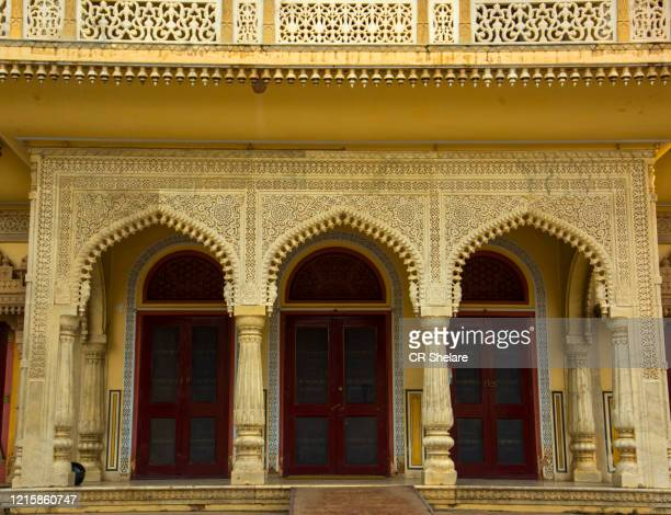 city palace, jaipur, rajasthan, india - arch stock pictures, royalty-free photos & images