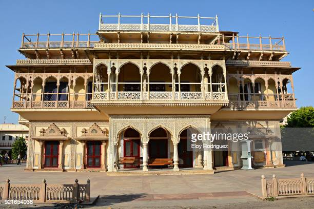 city palace, jaipur - rajasthan - india - mughal empire stock photos and pictures