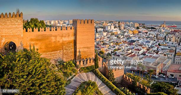 City panorama from Alcazaba of Almería city, Spain