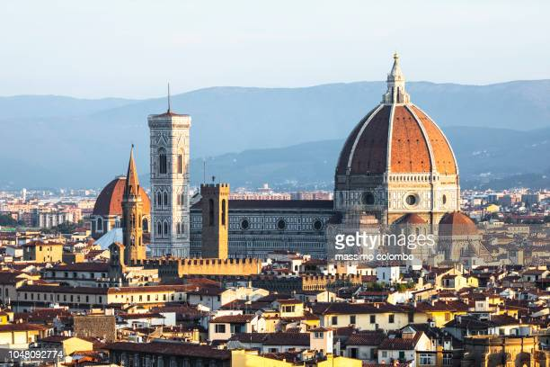 city panorama view, florence, italy - cathedral stock pictures, royalty-free photos & images