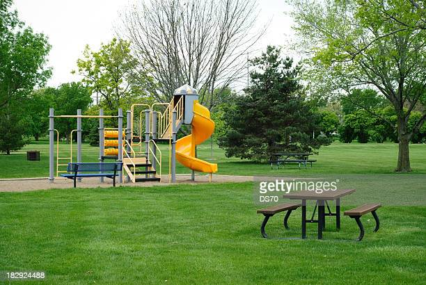 city park - kids playground stock photos and pictures