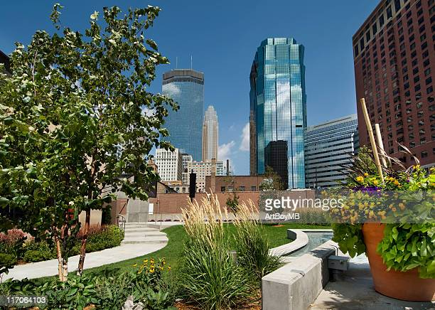 city park view of minneapolis, minnesota - minneapolis stock photos and pictures