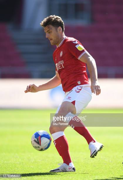 City player Chris Martin in action during the Sky Bet Championship match between Bristol City and Sheffield Wednesday at Ashton Gate on September 27,...
