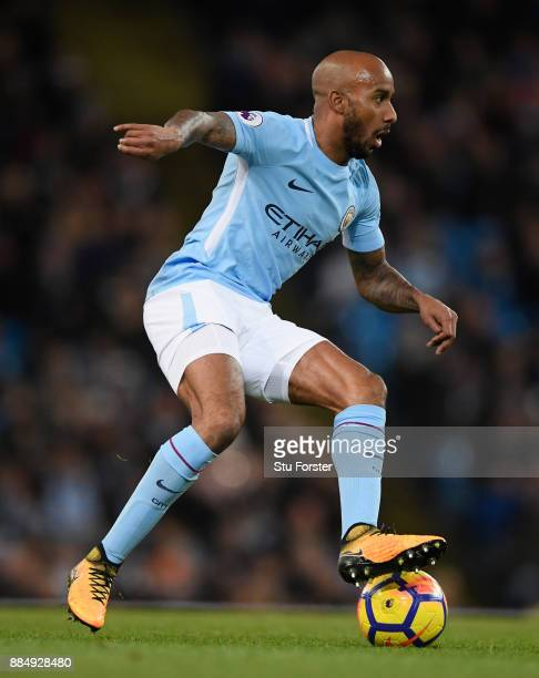 City player Fabian Delph in action during the Premier League match between Manchester City and West Ham United at Etihad Stadium on December 3 2017...