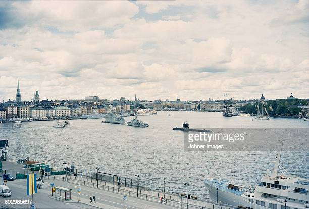 city port - submarine stock pictures, royalty-free photos & images