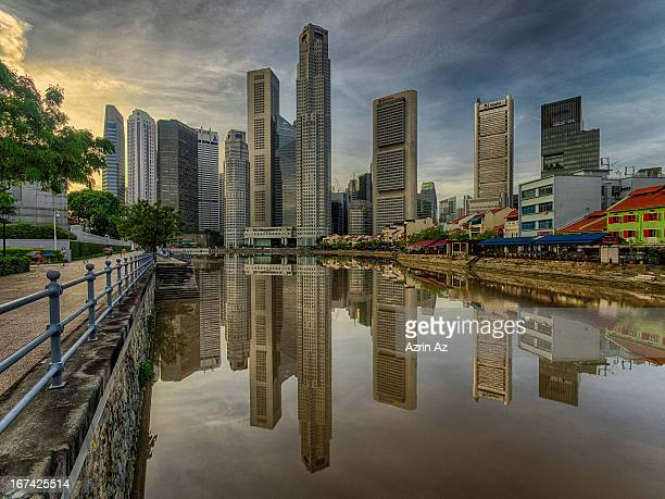 city reflecion - azrin az stock pictures, royalty-free photos & images