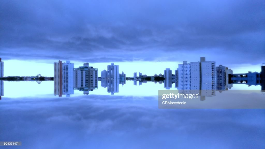 City reflected. : Stock Photo