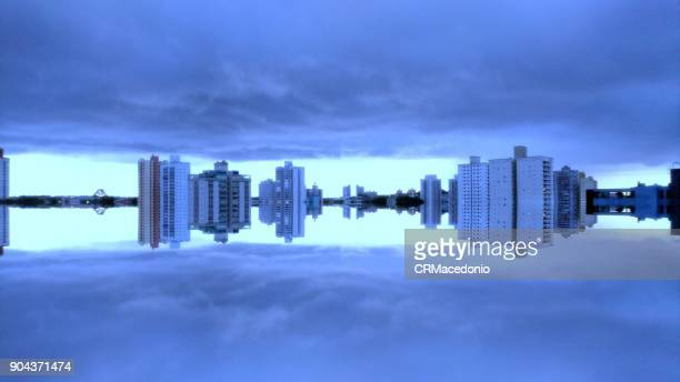 city reflected. - crmacedonio stock pictures, royalty-free photos & images