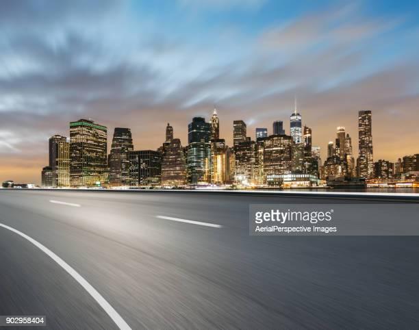 City Road at Dusk