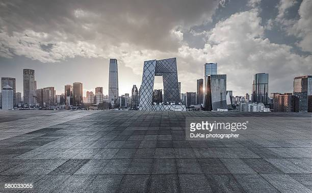 city road square - beijing province stock photos and pictures