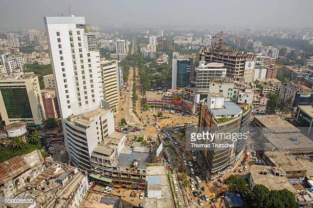 City Scape of Dhaka on April 13 2016 in Dhaka Bangladesh