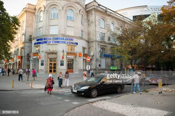 city scene in chisinau, moldova - chisinau stock pictures, royalty-free photos & images