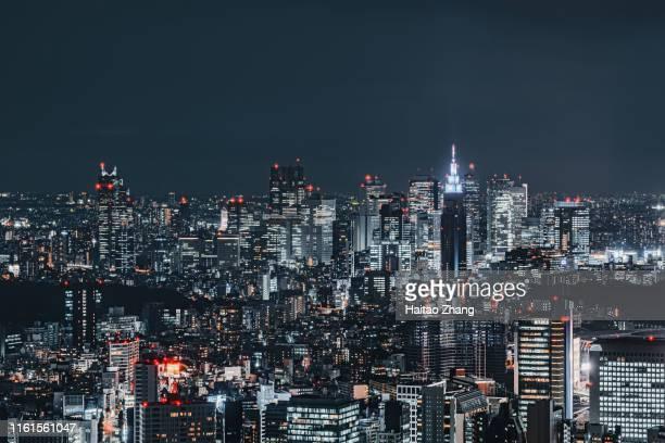 city scenery of tokyo, japan - 夜 ストックフォトと画像